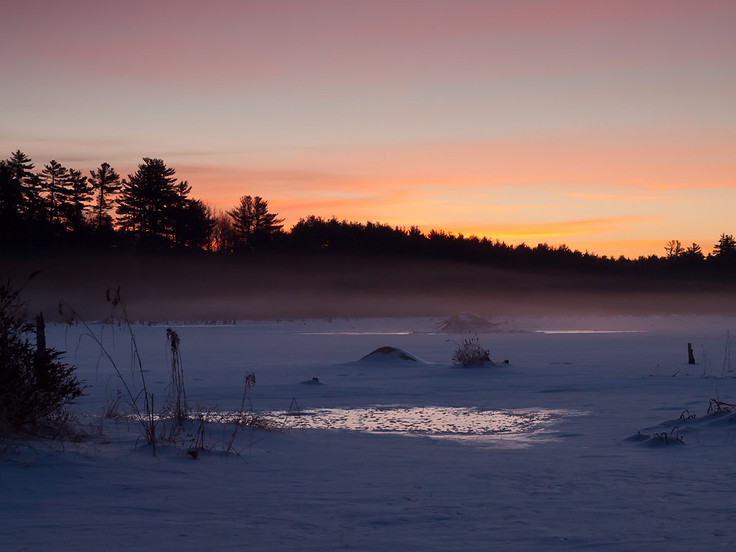 Sunrise over Hayes Marsh @ Bear Brook State Park. I love the mist that came and went while I shot.  It adds so much.
